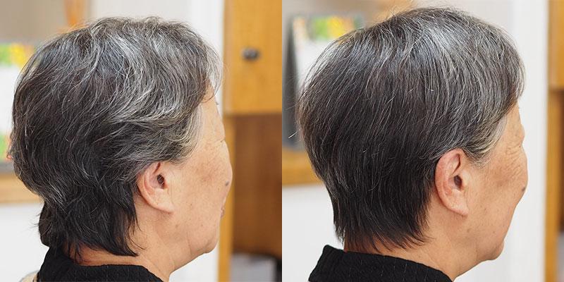 金沢文庫の美容院(美容室)クロッグヘアー ドライカットビフォーアフターその1 くせ毛① まとまるスタイル