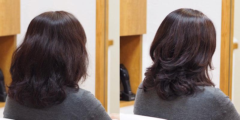 金沢文庫の美容院(美容室)クロッグヘアー ドライカットビフォーアフターその2 くせ毛② クセを生かしたスタイル