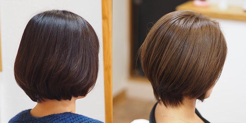 金沢文庫の美容院(美容室)クロッグヘアー ドライカットビフォーアフターその3 ボリュームカット