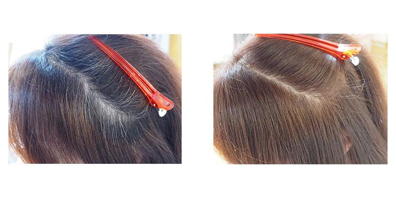金沢文庫の美容院(美容室)クロッグヘアー 白髪染めは2プロセスカラー ビフォーアフター1