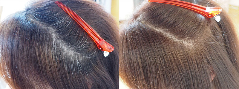 金沢文庫の美容院(美容室) クロッグヘアー  「2プロセスカラー」で色持ちと明るい色味に対応の白髪染め