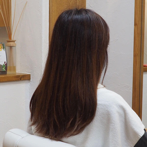 金沢文庫の美容院(美容室)クロッグヘアー レディースロング before