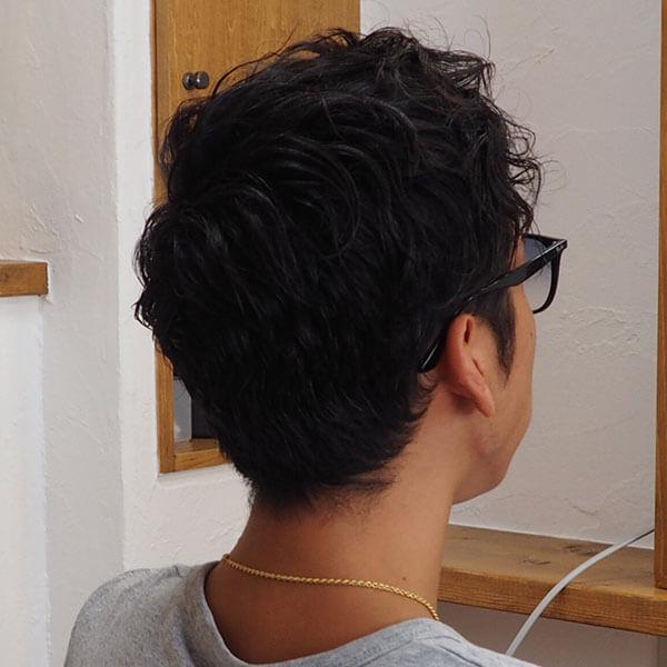 金沢文庫の美容院(美容室)クロッグヘアー メンズパーマスタイル before