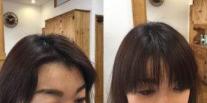 金沢文庫の美容院(美容室)クロッグヘアー ドライカットビフォーアフターその4 生え際カットその2
